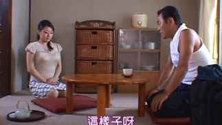 Cheerful big titted Reiko Yamaguchi feels her pal deep fucking her tiny cuch