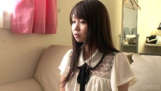 Playful Aika Yumeno with curvy wobblers loudly groans while her poontang is fiercely pounded
