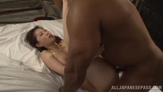 Astounding Sayuki Kanno with big tits shows her juice cunny to a hunk