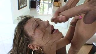 Tasty big titted cougar Ava Devine lets this hairy bf fuck her hardcore