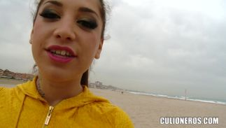 Cute bosomed latin Carla Cruz has her juice cherry thoroughly banged