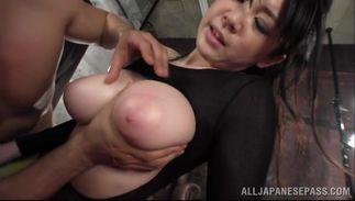 Cheerful big boobed Sena Minami girl enjoys riding a massive and hard pecker