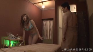 Alluring big breasted hottie Reira Akane smiles as she gets her poon tang fucked