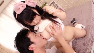 Concupiscent Cocoa Aisu with firm tits needs a large boner in her snatch