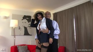 Exquisite big titted floosy Paige gets licked and doggy styled