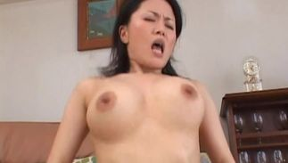 Magnificent bosomed Miki Sato gets intensely spooned