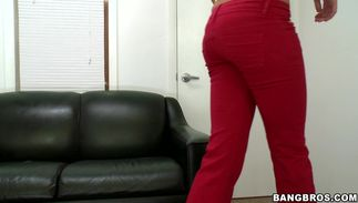 Frisky Deadra Dee with giant tits is aroused and crazy to fuck her fucker