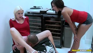Naughty busty golden-haired Whitney Taylor craves for stranger's large juicy packing monster badly