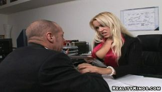 Astounding big titted Tamara Russ places her mouth wide for hard love rocket