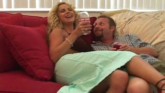 Hot latin blonde cutie Selena with big tits drives her pussy tester to agonorgasmos